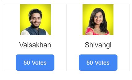 super singer vote for vaishagan and shivangi