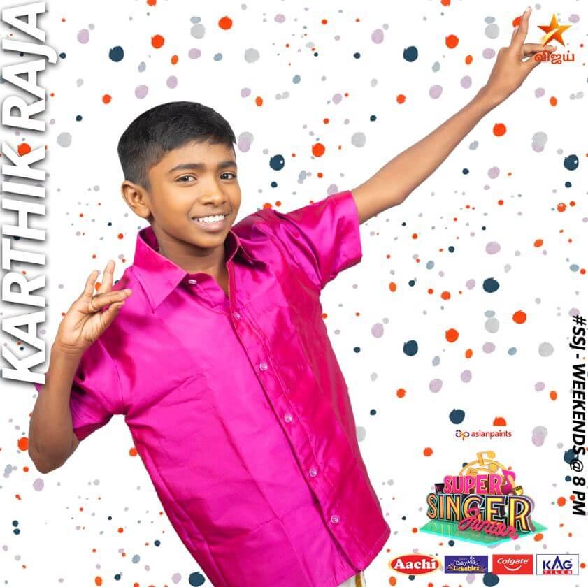 Karthik Raja Super singer Junior 7 Contestant 2020