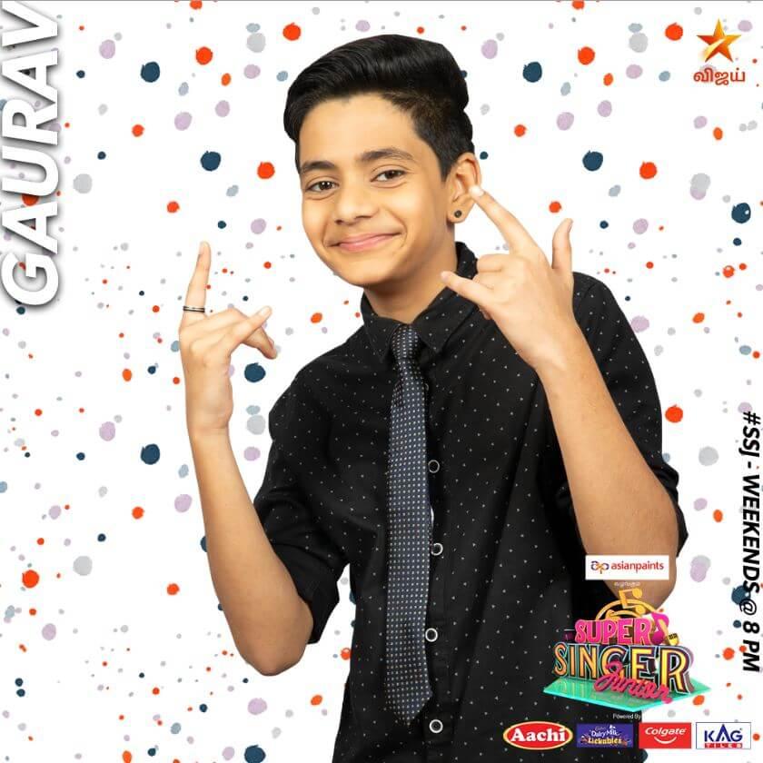 Gaurav Super singer Junior 7 Contestant 2020