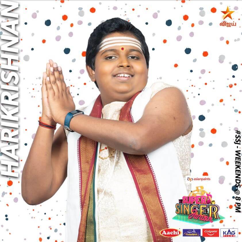 Harikrishnan Super singer Junior 7 Contestant 2020
