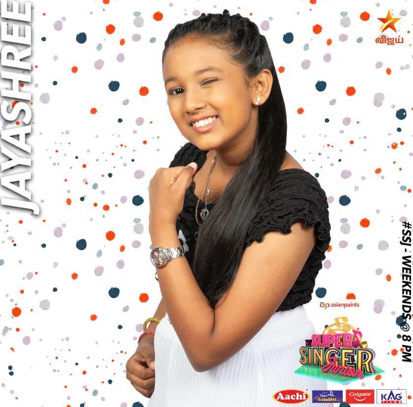 Jayasree Super singer Junior 7 Contestant 2020
