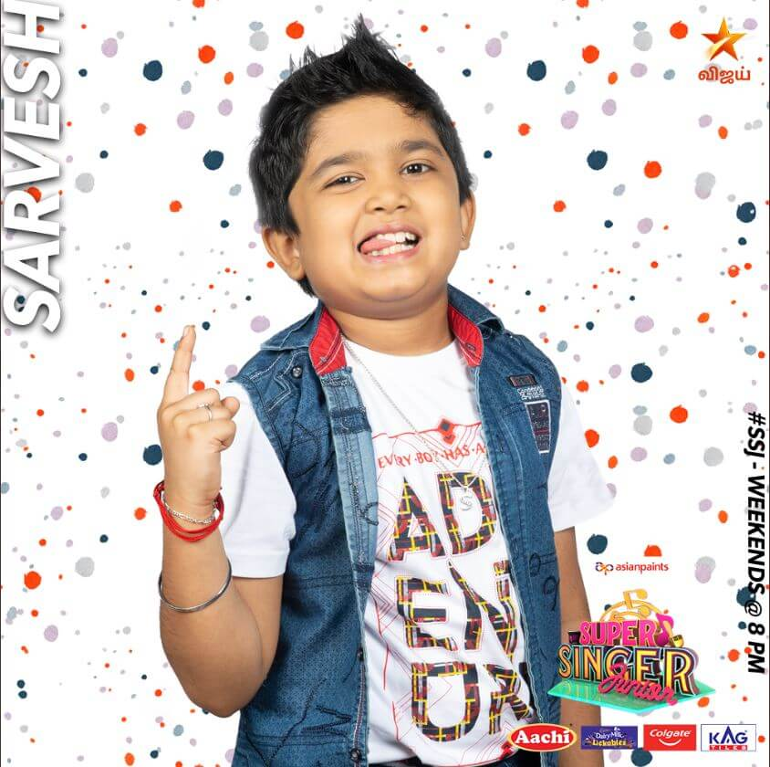 Sarvesh Super singer Junior 7 Contestant 2020